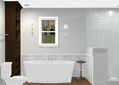 Renderings Bathroom Remodel 1