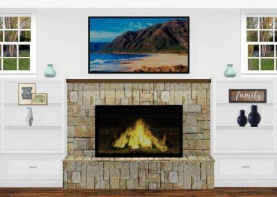 Renderings Fireplace Built In 1