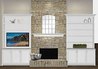 Renderings Fireplace Built In 2