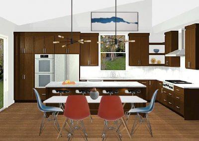 Renderings Modern Kitchen Remodel 1