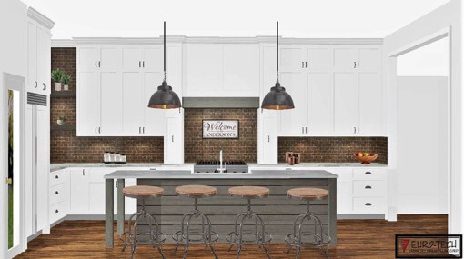 Renderings Kitchen Cabinets 3b